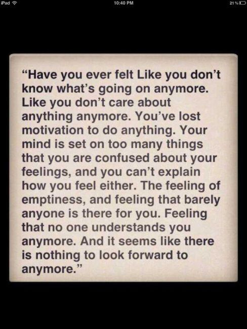 Feeling That No One Understands Me Always Really Every Part Of