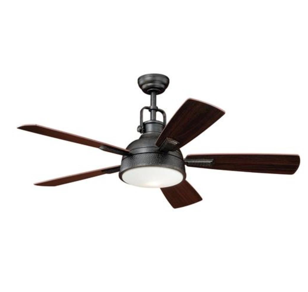 Lafitte 52 In Gold Stone Ceiling Fan With 5 Reversible Mocha Dark Bronze Blades Blade Diameter 52 B With Images Modern Ceiling Fan Ceiling Fan Light Kit Ceiling Fan