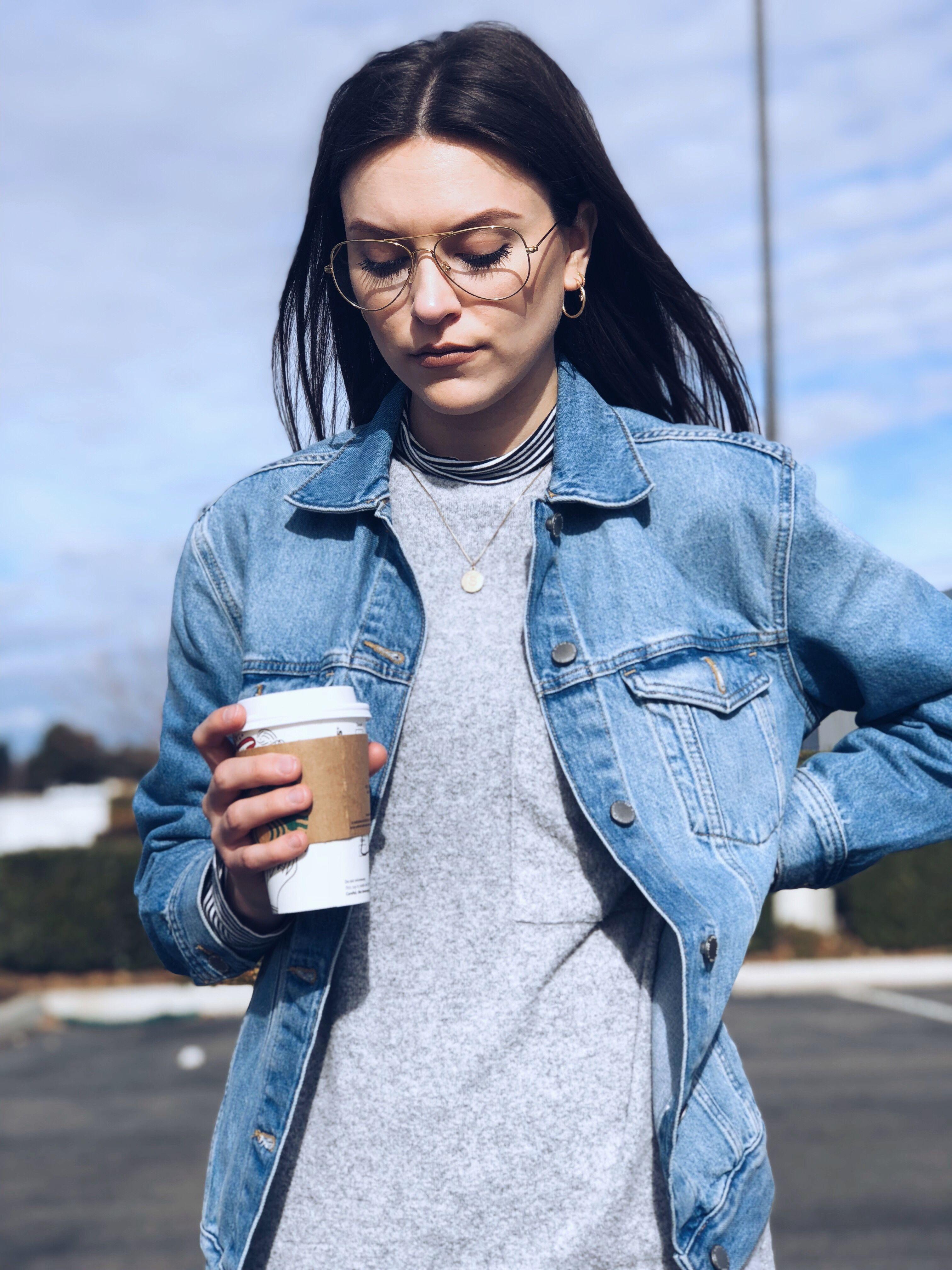 Jean Jacket On A Mid Day Coffee Break Lynnlyss Looks Jackets