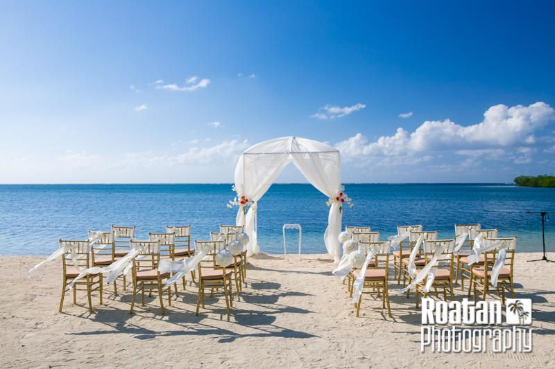 Ivory And Gold Beach Wedding At Turquoise Bay Roatan By Events