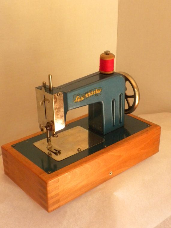 vintage toy sewing machine made in germany c 1946 by ...