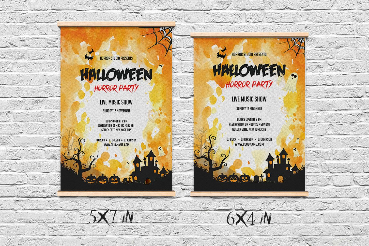 Halloween Party Flyer Template | Printable Halloween Party