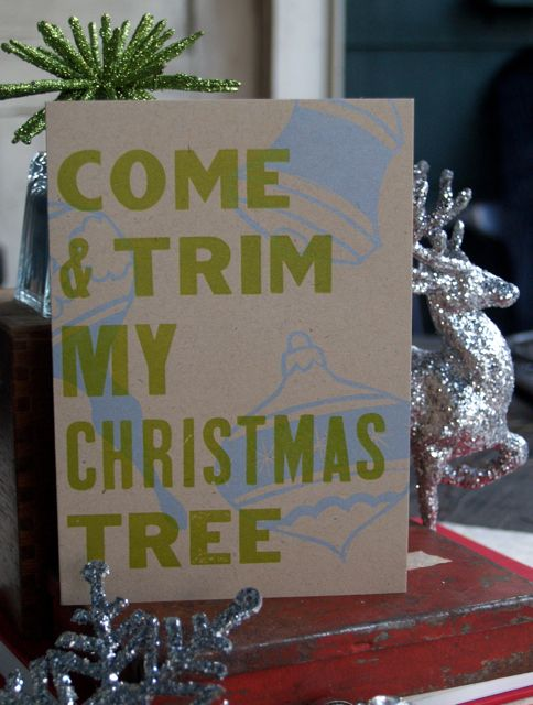 ornament holiday card. [love the quote...] rollandtumble press.
