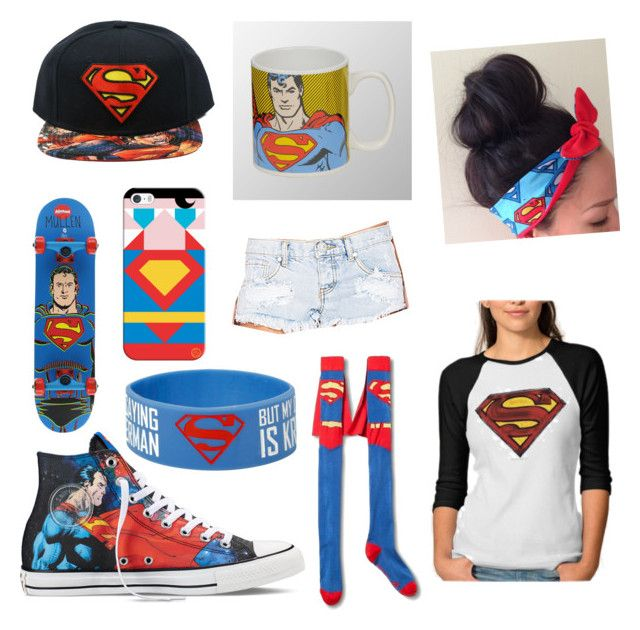 """""""Superman goals"""" by lilliana-apperson on Polyvore featuring Converse, Casetify and One Teaspoon"""