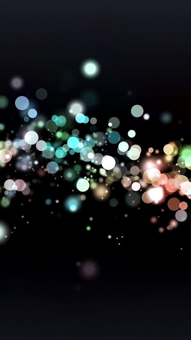 Glowing Bubbles Bokeh Iphone Wallpapers Iphone 5s Wallpaper