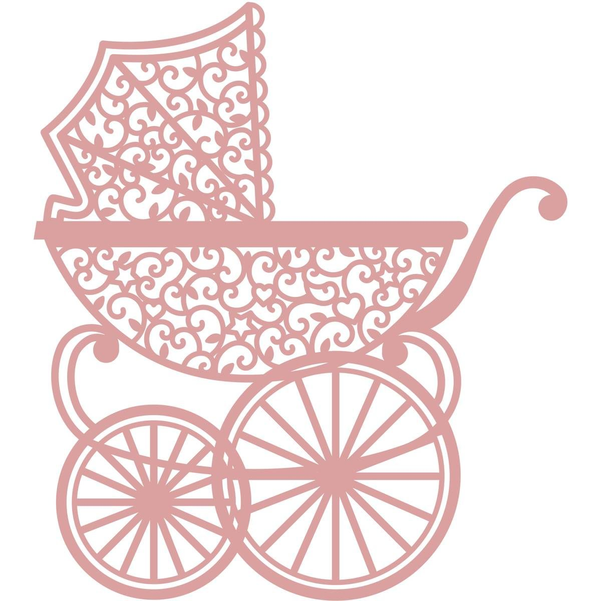 White Large Intricut Pram Die Cuts