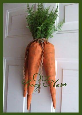Easter Carrots Wreath Tutorial