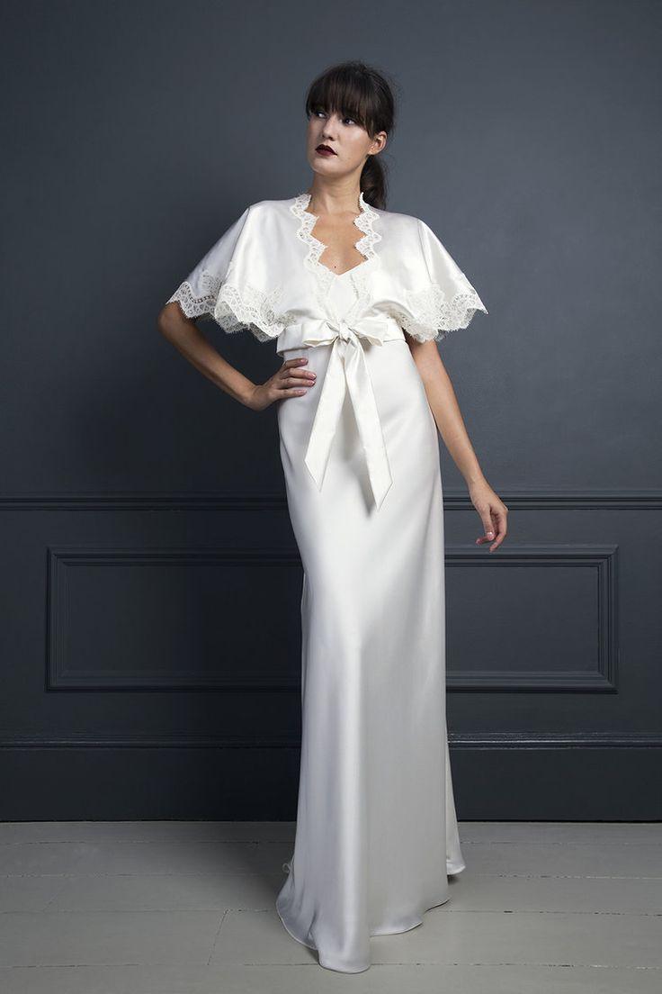 KIKI KIMONO TOP & IRIS SLIP | WEDDING DRESS BY HALFPENNY LONDON ...