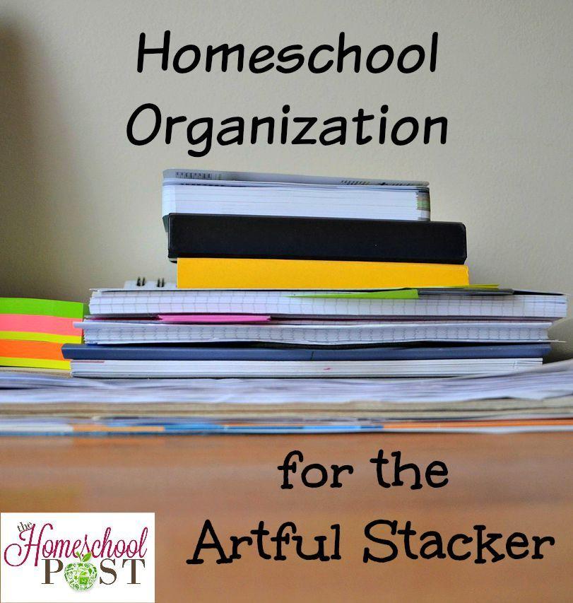 Homeschool Organization for the Artful Stacker   Pinterest