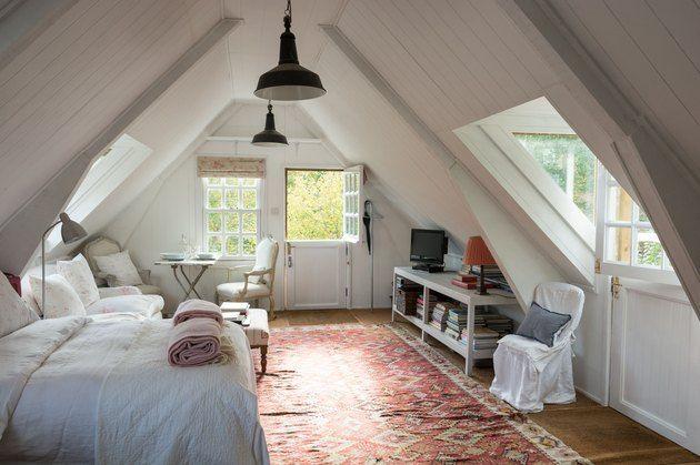 Small Attic Library Ideas And Inspiration Hunker In 2020 Attic Bedroom Designs Attic Master Bedroom Home