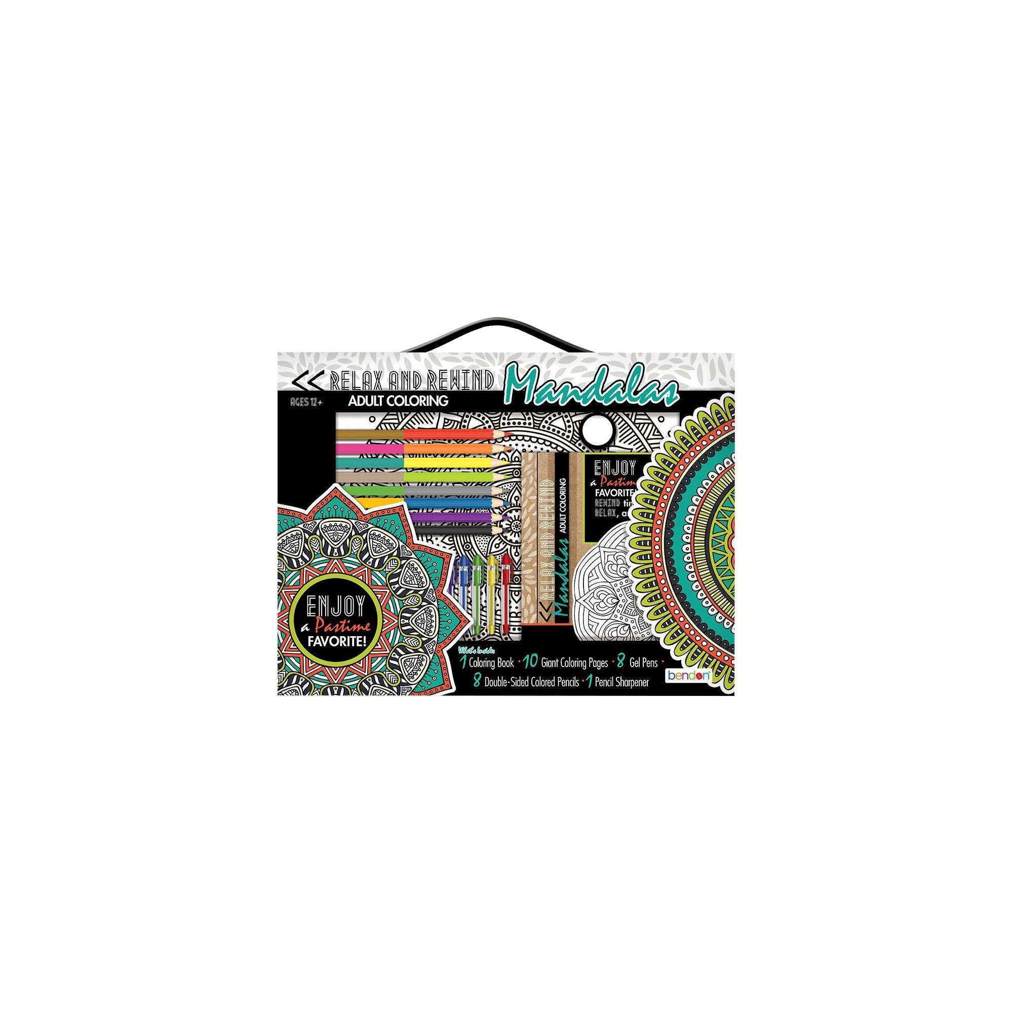 Bendon Adult Coloring Book Kit