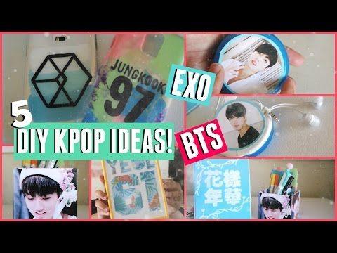 5 kpop diy ideas exo  bts  kpopamoo  youtube  kpop
