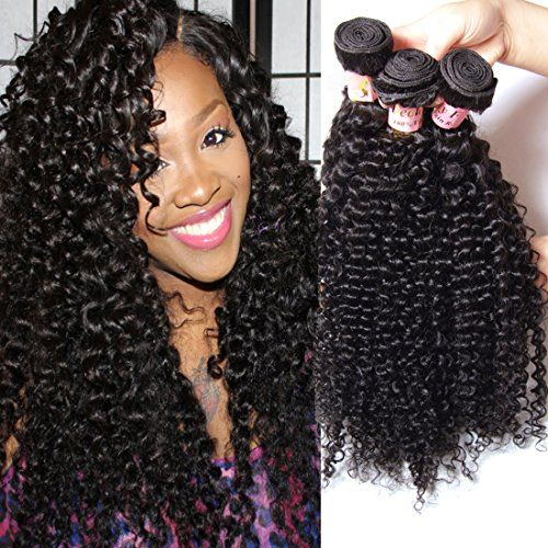 Brazilian Curly Hair Weave 3-pack Bundles 100% Unprocessed Virgin Human Hair Extensions Natural Color 95-100g/pc (20 22 24)  //Price: $ & FREE Shipping //     #hair #curles #style #haircare #shampoo #makeup #elixir