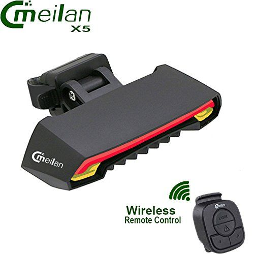 LED Fahrrad Rücklicht USB Blinker Laser Wireless Auto Remote Fernbedienung Lampe