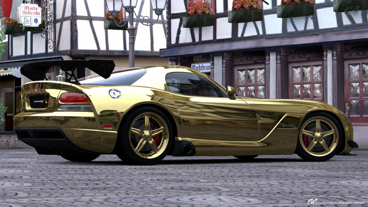 Dodge viper golden