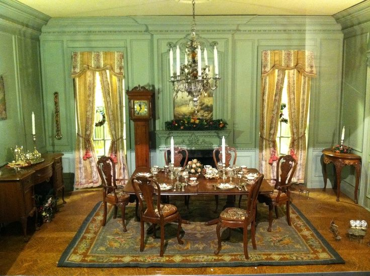 Dollhouse Furniture Inspiration Miniature Rooms Dollhouse Dining Room Dolls House Interiors