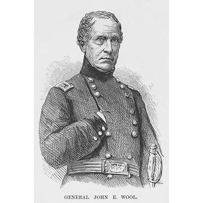 """Buyenlarge 'General John E. Wool' by Frank Leslie Painting Print Size: 36"""" H x 24"""" W x 1.5"""" D"""