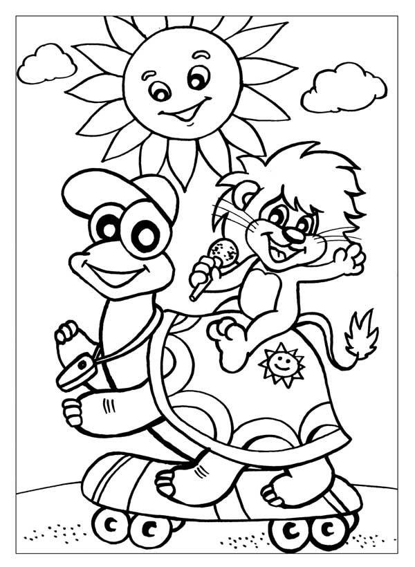 герои мультиков в картинках, Львенок и Черепаха, скачать ...