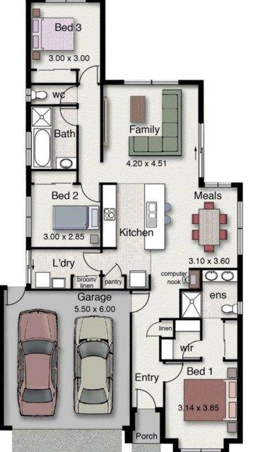 Planos de casas de 120 metros cuadrados planos para for Diseno de apartamentos de 90 metros cuadrados