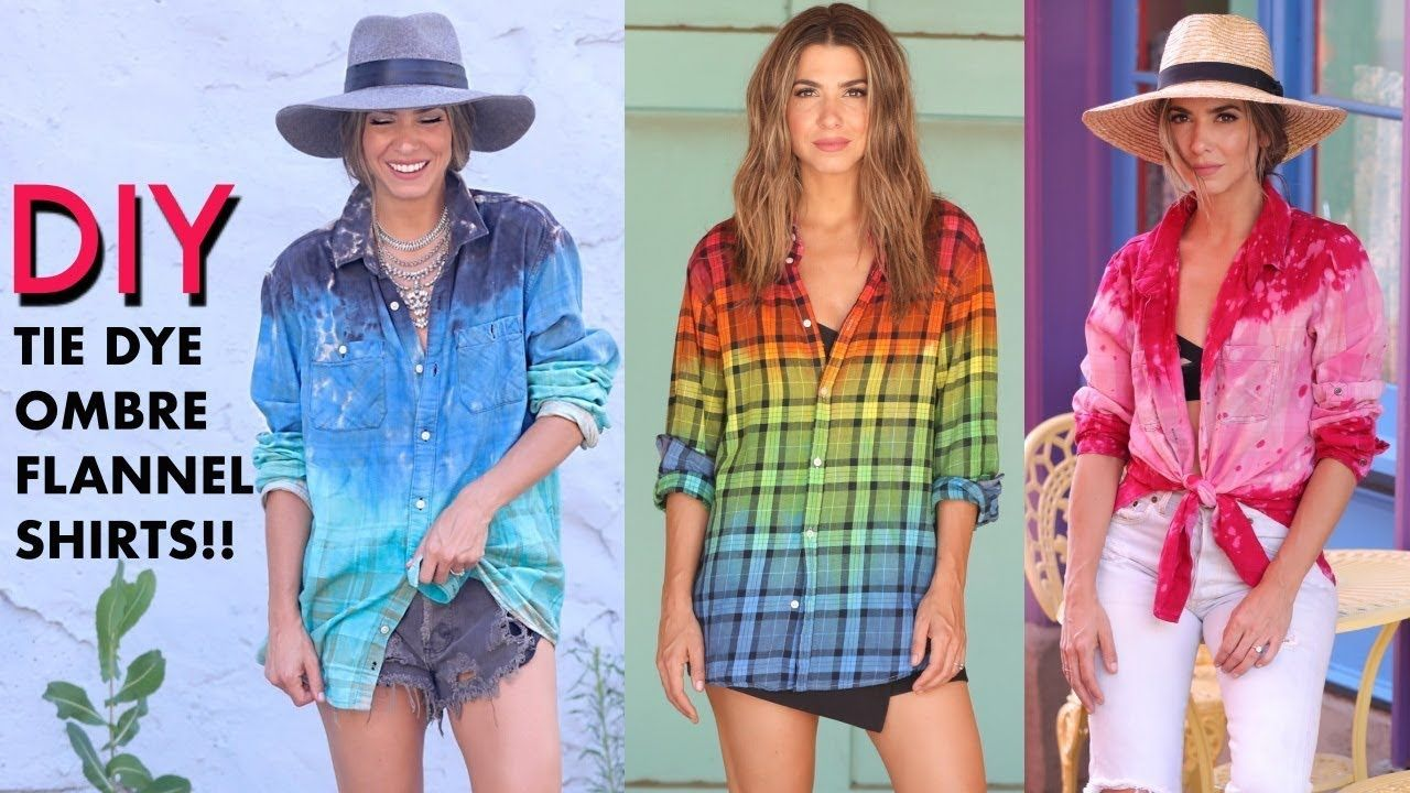 Diy how to tie dye ombre flannel shirts by orly shani