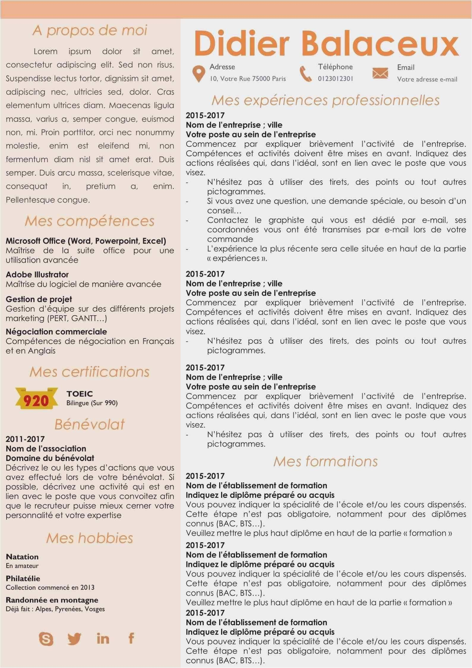 Characteristics Of A Good Resume Luxury 17 Cv Original Petite Enfance