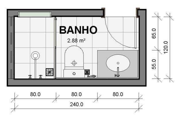 bathroom size.