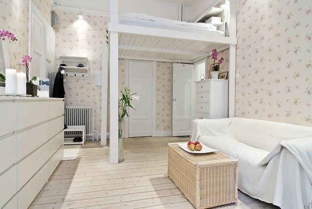 hochbetten erwachsene einraumwohnung einrichtung feminin deko Deko - hochbetten erwachsene kleine wohnung