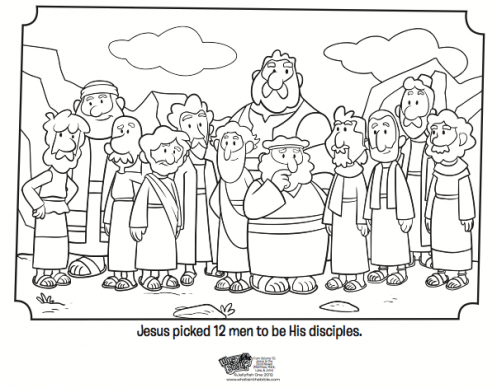 Kids Coloring Page From Whats In The Bible Featuring The