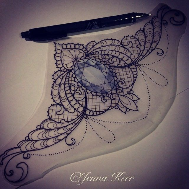 I Love This Sternum Tattoo Design How Beautiful