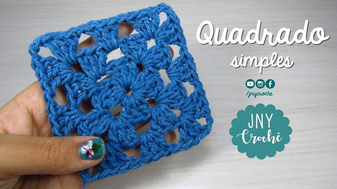 Aula 8 Como Fazer Quadrado Simples Aula De Crochê Para Iniciantes Como Fazer Crochê Quadrado Quadrados De Croche Aula De Crochê