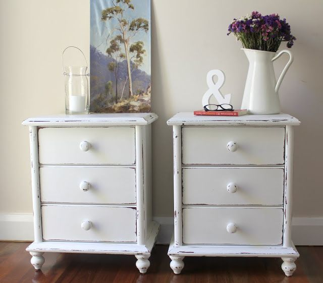 shabby chic white bedside tables pinterest shabby vintage rh pinterest co uk