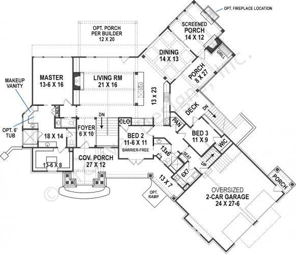 Harmony Ranch House Plan Craftsman House Plans Mountain House Plans Ranch House Plan