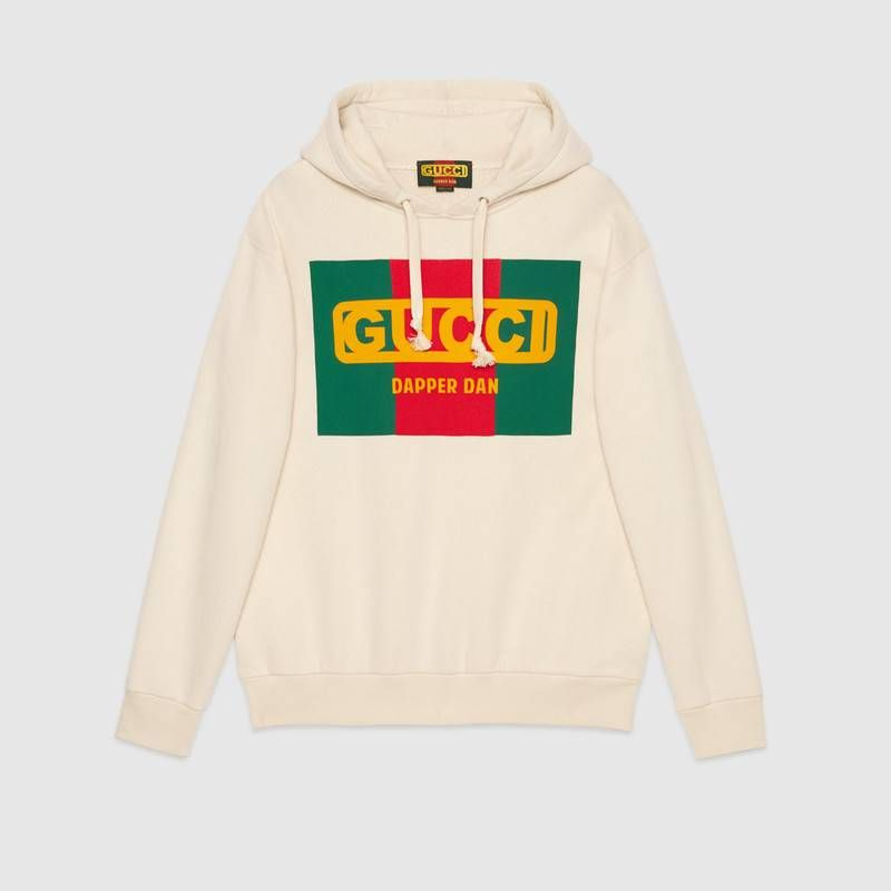 38305cb1 Shop the Oversize Gucci-Dapper Dan sweatshirt by Gucci. Introducing the  Gucci-Dapper Dan collection for Fall Winter 2018. In the '80s and '90s,  Dapper Dan, ...