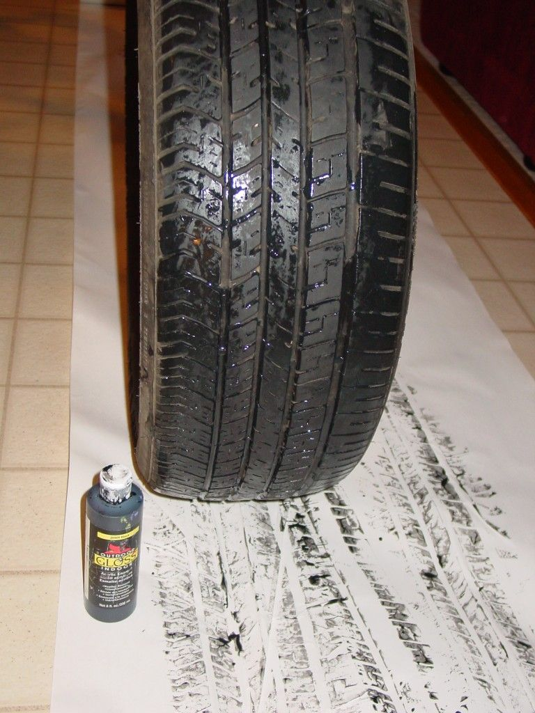 Tire Track Paper...table Runner? Or Wrapping Paper For Gifts To Birthday