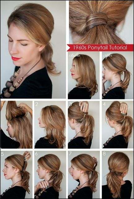 Pretty easy updos for work ponytail tutorial medium length hairs step by step ponytail tutorial pretty braided updo hairstyles for long to medium length hair solutioingenieria Gallery
