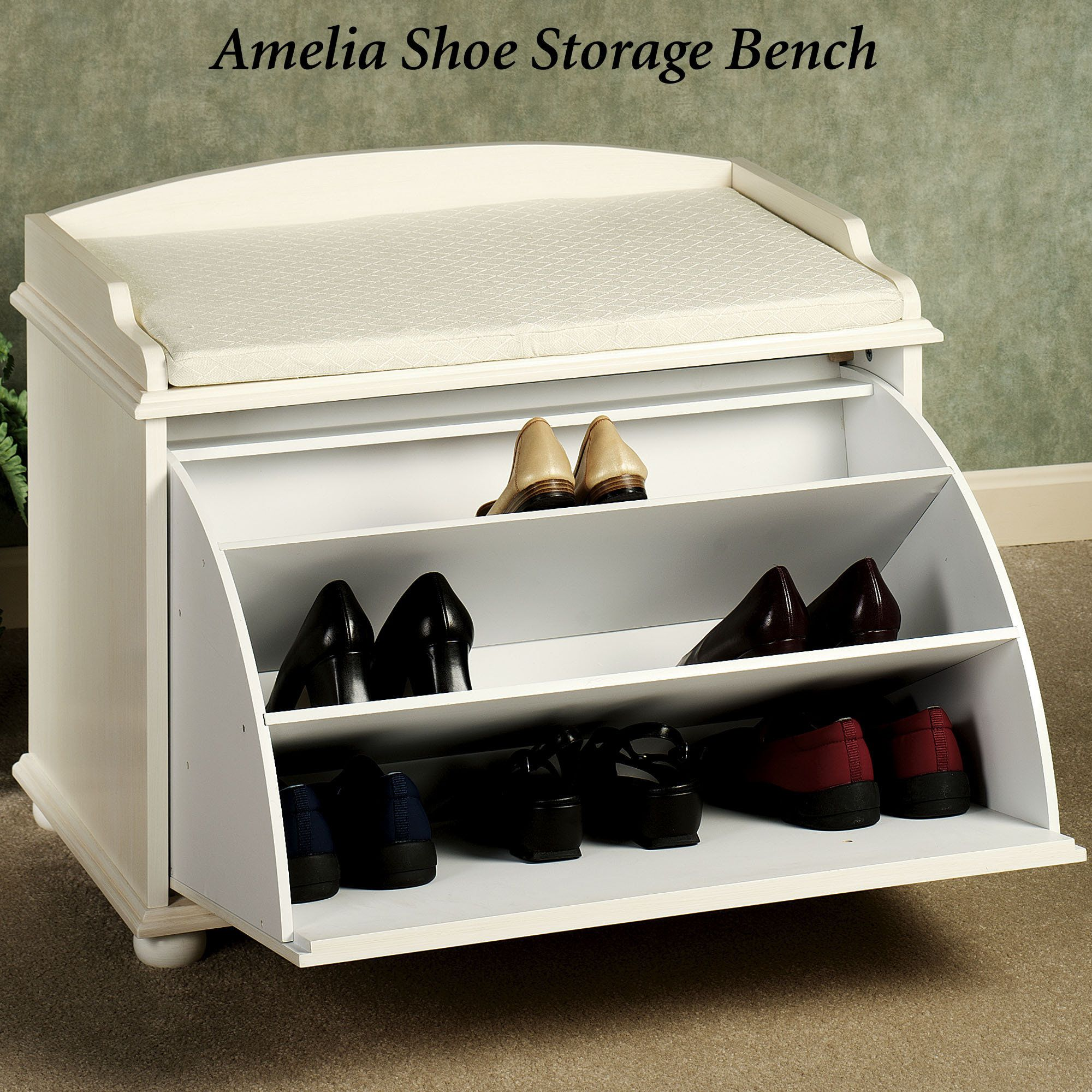 Shoe Store Bench   Home U003e Ayden Shoe Storage Bench
