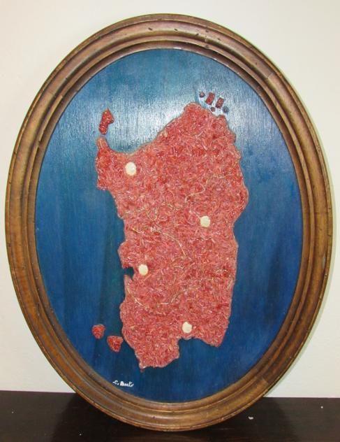Quadro artiginale in corallo rosso isola sardegna...