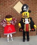 Lego Minifigures: Pirate and Cheerleader Costume