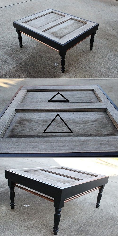 Coffee Table Of Old Exterior Door ideas