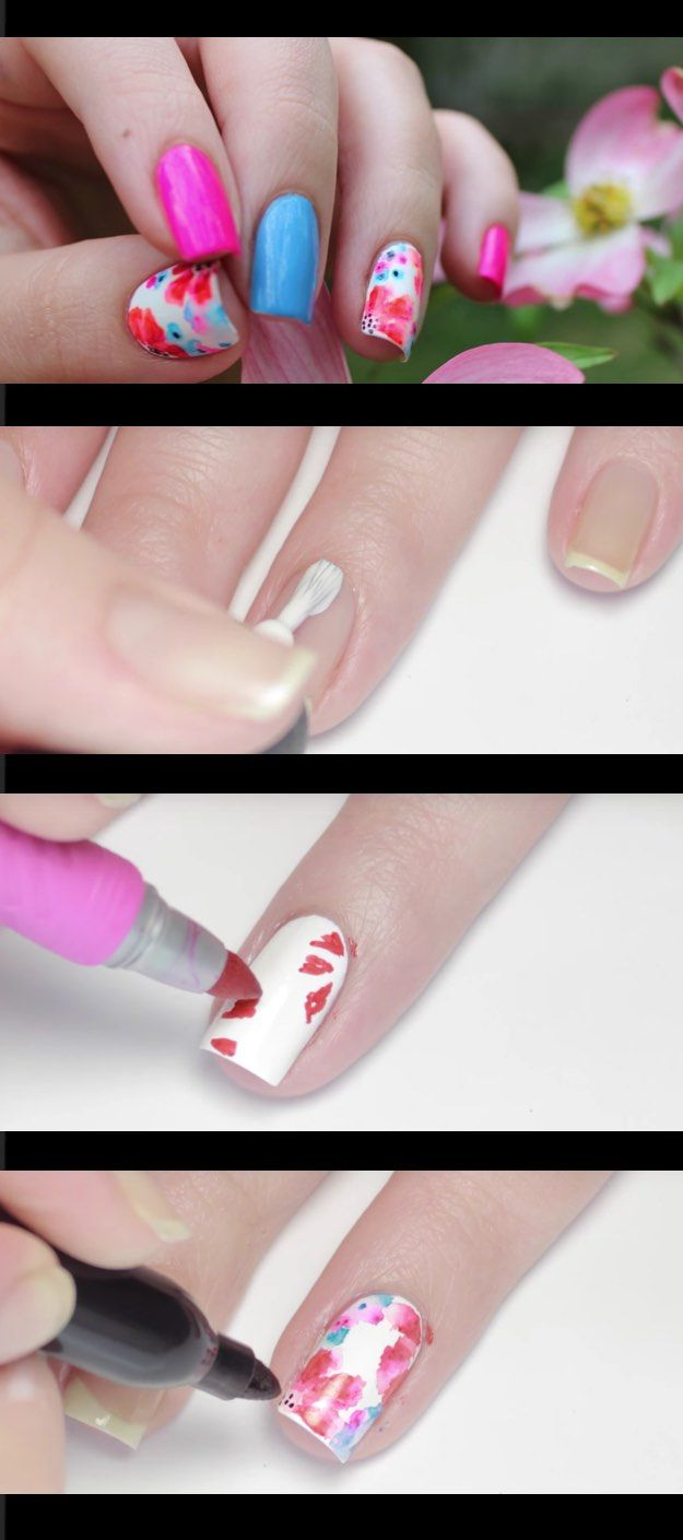 41 Creatively Clever Nail Art Hacks | Sharpie nail art, Sharpie ...