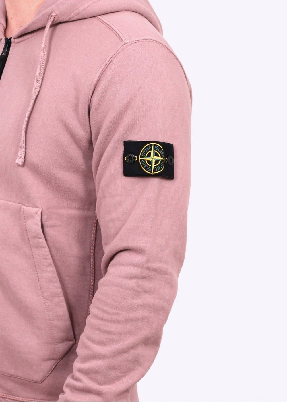 70e1f289 Stone Island Garment Dyed Hooded Sweater - Antique Rose | krasava ...
