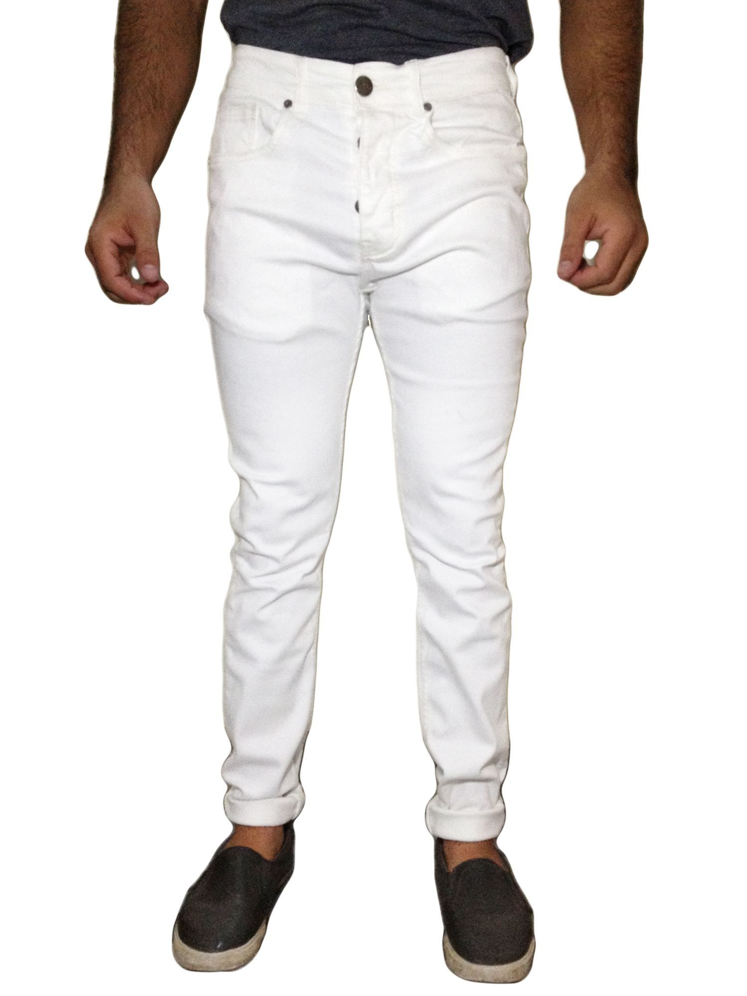 Slim-Fit White Denim Jeans for MEN. Flexibility and quality all in this  Denim 58007304ab90