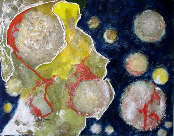 THE METAPHYSICAL (El metafísico) - 61x50 cm = 24x20 in - (This artwork is SURREALISM /// Esta obra es surrealista)
