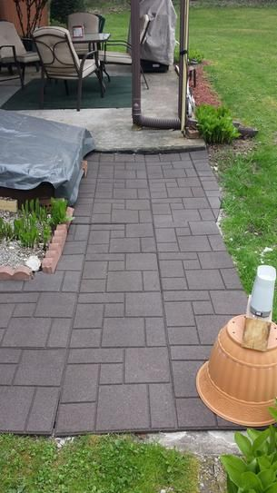 Envirotile Cobblestone Earth 18 In X Rubber Paver Mt5000637 At The Home Depot Mobile