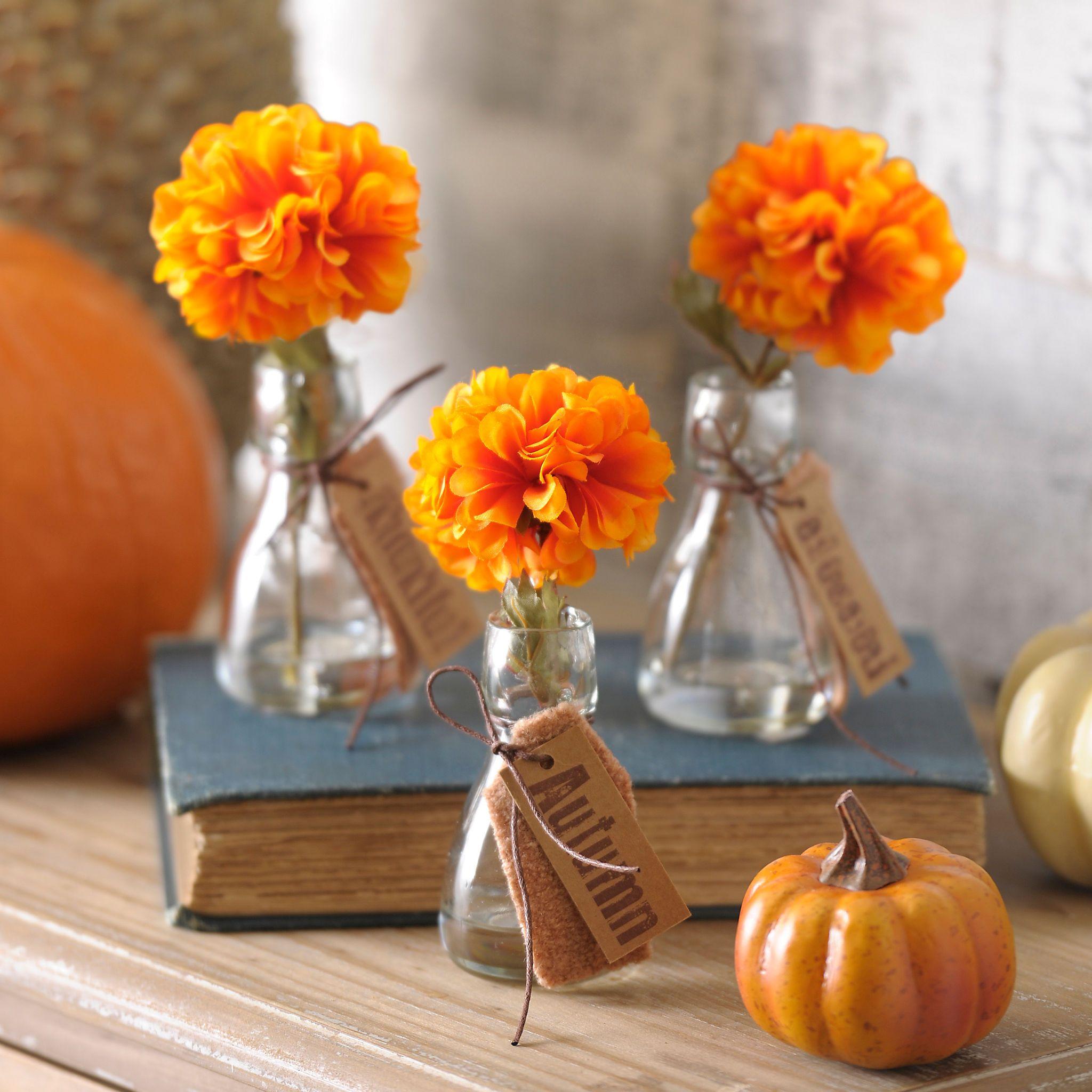 Single Orange Blossom Arrangement, Set of 3 | Kirklands