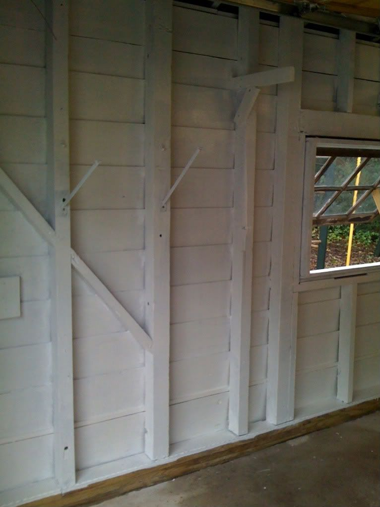AFTER: Painting A 1920u0027s Garage (I Say Paint The Vertical And Diagonal  Board White. Painted Garage InteriorInterior WallsGarage ...