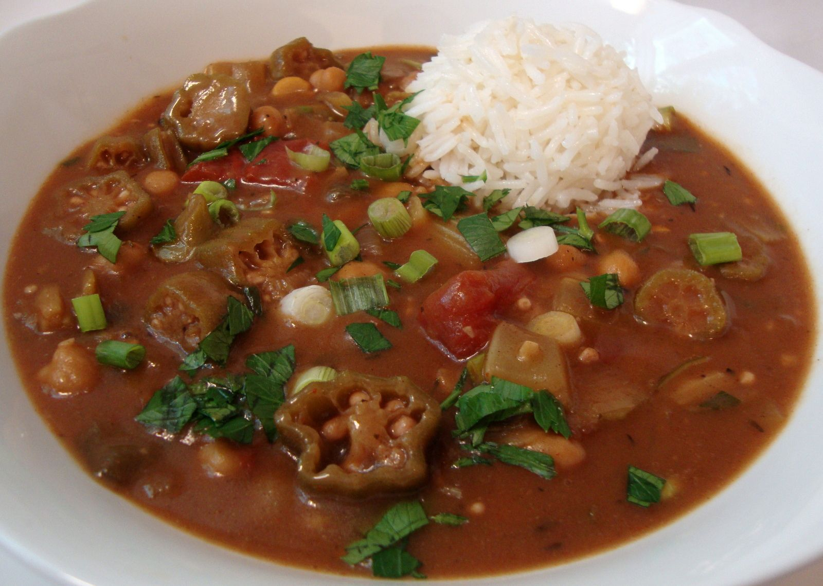 Vegan Chickpea Creole Gumbo from the Gentle Chef