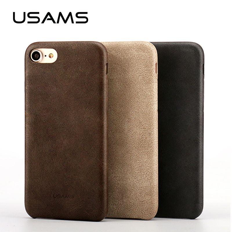 Voor coque iphone 7 case 4.7 inch usams bob serie pu leer case voor iphone 7 plus 5.5 inch telefoon case cover tassen & gevallen