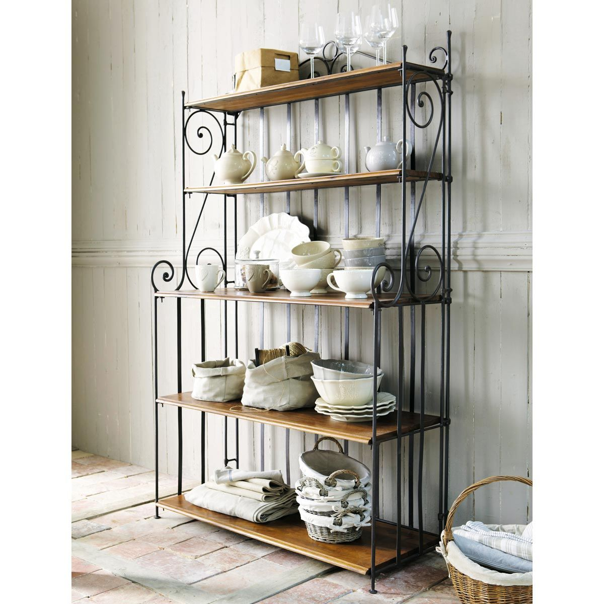 Wrought Iron Shelf Unit W 112cm Lubéron | Maisons Du Monde