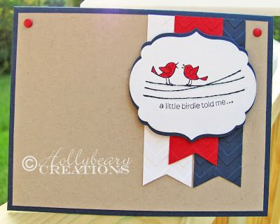 Sunday Stamps #52 / Red, White & Blue / Stampin' Up! / For The Birds